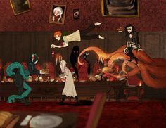 A peculiar kind of dinner by Ailovc.deviantart.com
