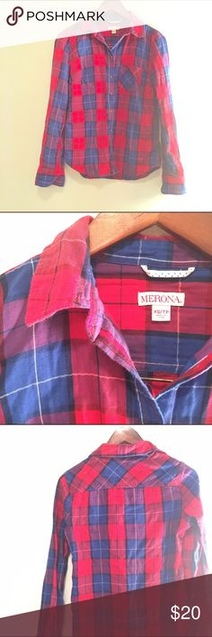 flannel button down from Merona at Target Great with jeans! Merona Tops Button Down Shirts