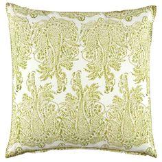 John Robshaw Textiles - Lichen Decorative Pillow - Verdin - PILLOWS