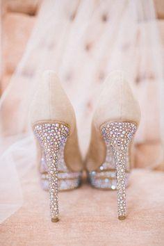 Bling bling wedding heels