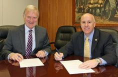 Clarkson University President Tony Collins (left) met on February 24 with Sierra College President Willy Duncan (right), and Placer County, ...