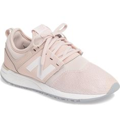 Obsessing over these New Balance sneakers in pale pink! This stylish and supremely comfortable sneaker is grounded by ultra-light REVlite cushioning.