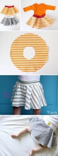 Free Baby Skirt Pattern. WAY EASY!