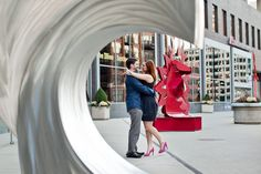 Mart Plaza engagement photographer | Chanelle