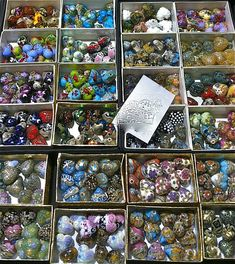 Grace Lampwork beads at the 2014 Tucson Gem and Mineral Show Jewelry Supplies, Jewelry Ideas, Gem And Jewelry Show, Tucson Gem Show, Bead Shop, First Kiss, Gems And Minerals, Kandi, Crystal Cluster