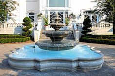 Perfect for the front yard, entry fountains set the mood for the home.