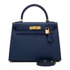 #Hermes #Sellier #Kelly #Bag Blue Sapphire Epsom Gold Hardware