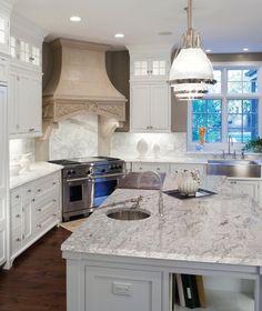 Granite Kitchen Countertops Ready To Install River White Granite Slab Includes Backsplash - 112 x 26 Kitchen Tops, Kitchen Redo, Kitchen Remodel, Kitchen Ideas, Kitchen Designs, Pantry Ideas, Rustic Kitchen, Country Kitchen, Kitchen Cabinets