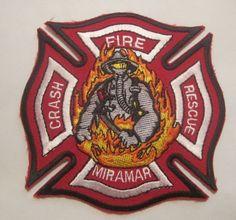 USMC MIRAMAR MARINE AIR BASE SAN DIEGO CA FIRE CRASH RESCUE PATCH UNUSED