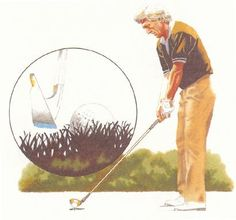 Instruction Lesson #15 - Why Jack And I Hover The Club. Early in my golf life I adopted Jack Nicklaus's technique of addressing the ball with the clubhead held just above the turf rather than resting on it. I like the idea for two big reasons. #train
