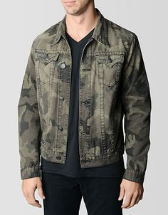 6c5cb917d Shop for Danny Camo Trucker Mens Jacket by True Religion at ShopStyle.