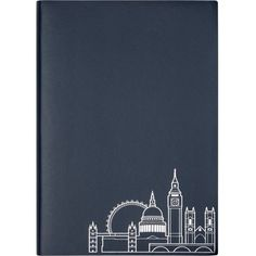 UNDER COVER London skyline a5 notebook found on Polyvore featuring home, home decor and stationery