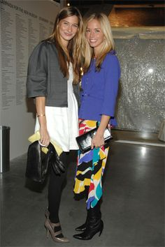 different idea- lots of color, mid-longish skirt over black boots.  Like the pairing of white dress with black tights, gray cropped jacket, and gray shoes
