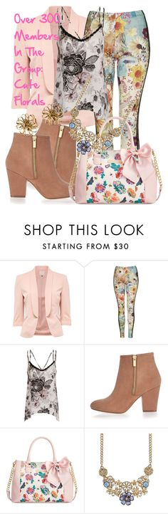 """""""Over 300 Members In The Group: Cute Florals"""" by deedee-pekarik ❤ liked on Polyvore featuring Topshop, Girls On Film, River Island, Betsey Johnson, 2028, Yves Saint Laurent, women's clothing, women, female and woman"""