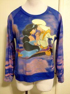 RARE! Womens Princess Jasmine & Aladdin Shirt Medium #Disney #GraphicTee