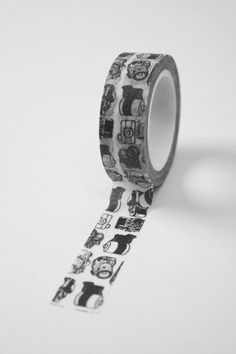 Washi Tape - 15mm - Black Camera Photography on White - Deco Paper Tape No. 565. $3.95, via Etsy.