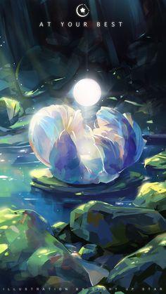 xinxin liu - X to D(93/119) Fantasy Art Landscapes, Fantasy Landscape, Fantasy Artwork, Pretty Art, Cute Art, Fantasy Background, Magic Background, Anime Scenery Wallpaper, Environmental Art
