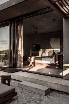 Ambiance naturelle et minérale au Casa Cook Chania - Frenchy Fancy Home Design, Modern House Design, Home Interior Design, Interior Architecture, Interior And Exterior, Design Homes, Modern Home Interior, Colour Architecture, Interior Colors