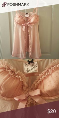 Shop Women's Victoria's Secret Pink size Chemises & Slips at a discounted price at Poshmark. Gorgeous Lingerie, Sheer Lingerie, Babydoll Lingerie, Women Lingerie, Bikinis, Swimsuits, Lingerie Collection, Nightwear, Baby Dolls