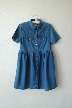 denim baby doll dress - SOLD! sending to Paris today