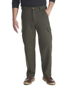 Men's Wool Cargo Pant in Olive Heather by WOOLRICH® The Original Outdoor Clothing Company
