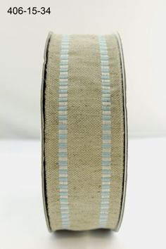 RUSTIC FRAYED EDGE VELVET SPOT RIBBON LINEN VINTAGE 38mm x 1mtr NATURAL,COTTON