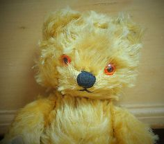 """#Vintage 1950s chad valley english gold #mohair #jointed old teddy bear, 11"""" tall,  View more on the LINK: http://www.zeppy.io/product/gb/2/172346445134/"""