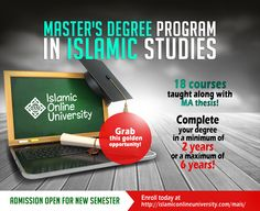 An excellent opportunity for BA students to continue with their studies! Islamic Online University, Devry University, Types Of Education, Education And Training, Master Degree Programs, Islamic Studies, Masters Programs, Online College, New Career