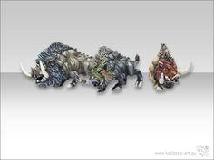 Riesen Wildschweine Typ 1 bis Typ 3