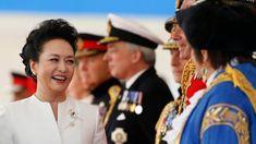 Chinese first lady Peng Liyuan greets dignitaries