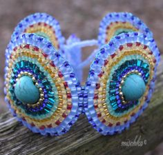 "Sewn bracelet ""Brick No. 7"" by mischka.anna - SAShE.sk - Handmade Bracelets"