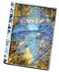 Part 1 of this article will teach you how to make an Omni-Gel transfer and to solder the book covers together.