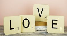 Letras de Scrabble para decorar rincones