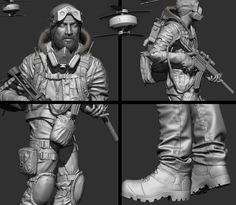 Making of Winter Operative – Real time character by Marlon R. Núñez – zbrushtuts
