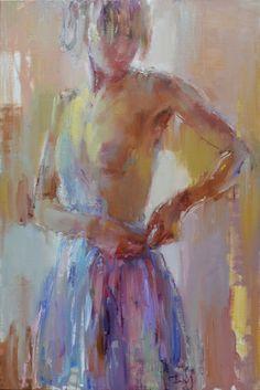 "Saatchi Online Artist: Nelina Trubach-Moshnikova; Oil 2013 Painting ""Lady of the day"""
