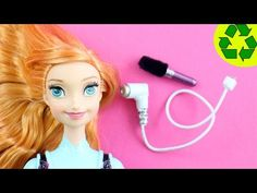 How to Make a realistic Doll Hair dryer and Hair brush - Easy Doll Crafts - YouTube