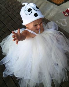 Cute little ghost costume for little girls.