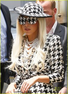 Lady GaGa. I love houndstooth but not that much.