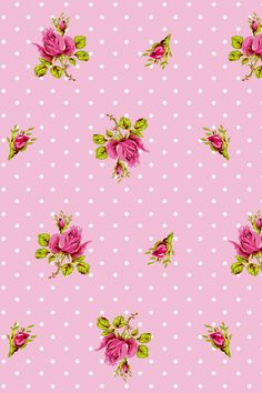 PiP Roses and Dots Roze behang