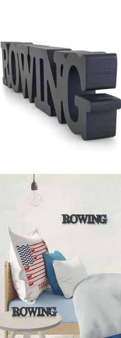 This rowing wood sign is a great decoration to your room.