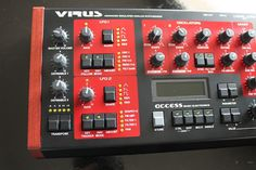 Access Virus A Advanced Simulated Analog Synthesizer SN 19803320 Drum Machine, Studio Software, Electronic Music, Keys, Filter, Musica, Blue Prints, Key, Philtrum