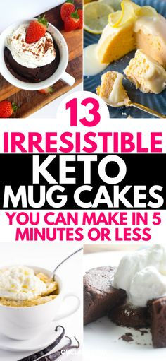 Diet Meals I am so glad I found these 13 delicious keto mug cakes. I need to try all of these awesome low carb recipes asap! So easy to make and I can just make them in my microwave. Low Carb Sweets, Low Carb Desserts, Low Carb Recipes, Diet Recipes, Snacks Recipes, Diet Meals, Healthy Recipes, Low Carb Mug Cakes, Vegan Mug Cakes