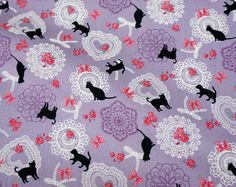 Cat Fabric Prints Items Similar To Print Anese A8 On Etsy