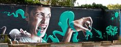Graffiti : Mural painted by the artist Smug during the Street Art Festival 2012 in Hasselt Belgium. Street Wall Art, Art Challenge, Graffiti, Art Festival, Art Graf, Corporate Art, Art, Street Art, Pop Art