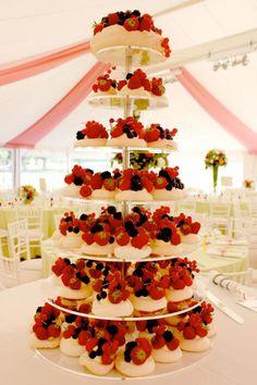 Mini Pavolva Wedding Cake
