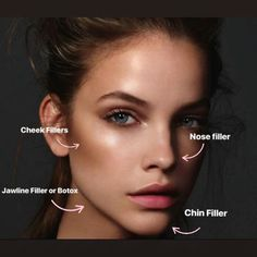 Contour with Fillers Cheek augmentation with injectable fillers can make a dramatic difference in the face The face normally loses its fullness with age This can help si. Nose Fillers, Facial Fillers, Botox Fillers, Dermal Fillers, Cheek Injections, Chin Filler, Facial Aesthetics, Face Contouring, Skin Treatments