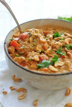 Curry de poulet crémeux aux noix de cajou