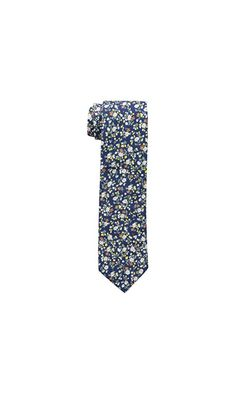 12.99$ - Rooster Men s Subtle Floral Pre-tied Tie- Navy- One Size from Rooster- Rooster 100 percent cotton necktie with contrast chambray cotton tail and tipping. Perfect for dress and casual