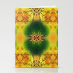SPIRITUAL_in yellow Stationery Cards by MiuRiO Decor - $12.00
