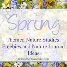Spring Themed Nature Studies: Freebies and Nature Journal Ideas